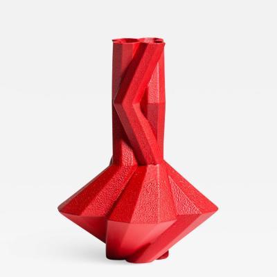 Lara Bohinc Fortress Cupola Vase Red Ceramic