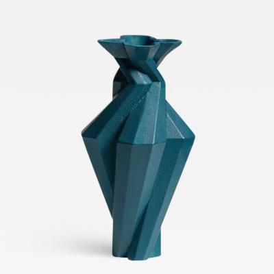 Lara Bohinc Fortress Spire Vase Blue Ceramic