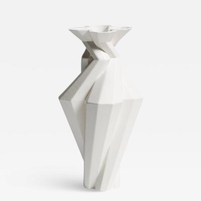 Lara Bohinc Fortress Spire Vase White Ceramic