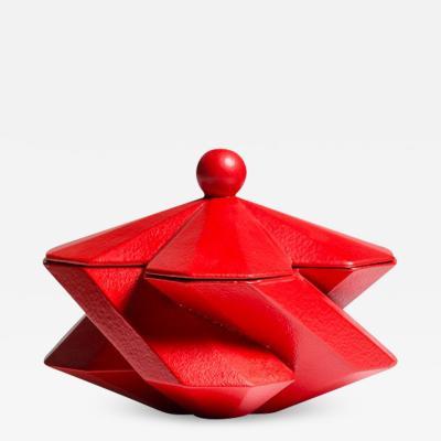 Lara Bohinc Fortress Treasury Box Red Ceramic