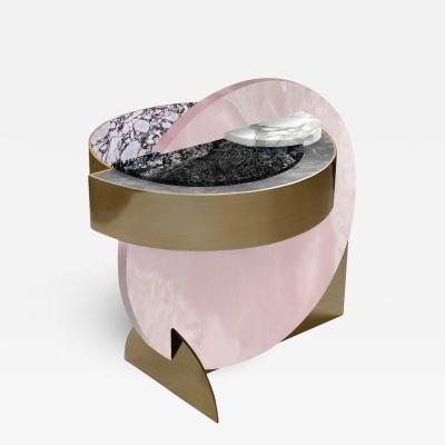 Lara Bohinc Full Moon Side Table Pink Onyx