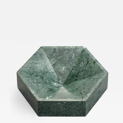 Lara Bohinc Hexagonal Constellation Bowl Large Low Verde Guatemala
