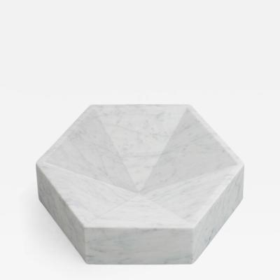 Lara Bohinc Hexagonal Constellation Bowl Small Low Carrara