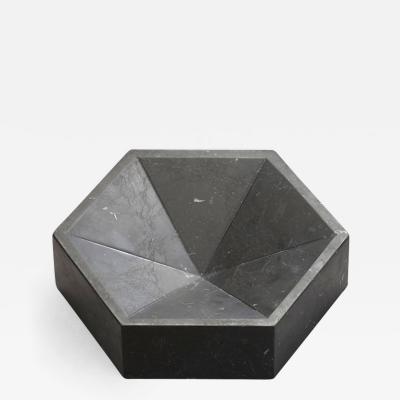 Lara Bohinc Hexagonal Constellation Bowl Small Low Nero Marquina