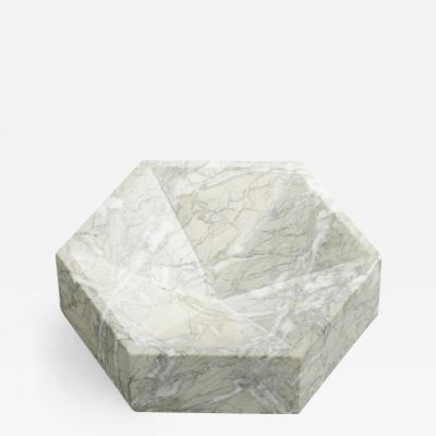 Lara Bohinc Hexagonal Constellation Bowl Small Low Verde Antico