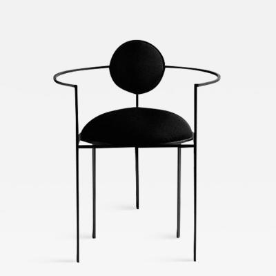 Lara Bohinc Lunar Chair Steel and Wool Black