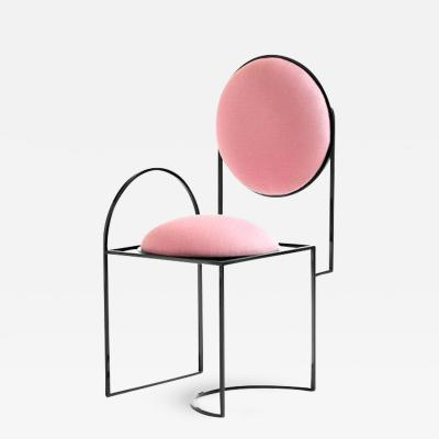 Lara Bohinc Solar Chair Steel and Wool Pink