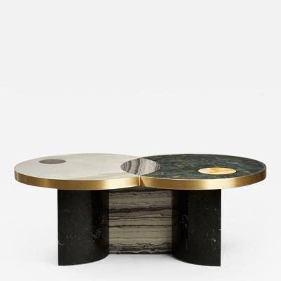 Lara Bohinc Sun and Moon Marble and Brass by Lara Bohinc