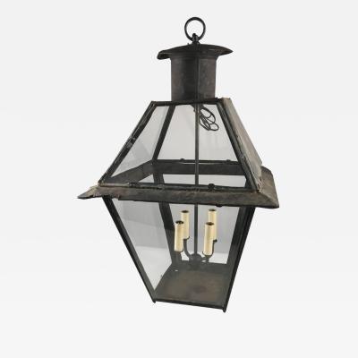 Large 18th Century Tole Lantern Electrified