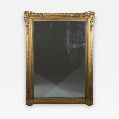 Large 19th Century Gilded Overmantel or Pier Mirror