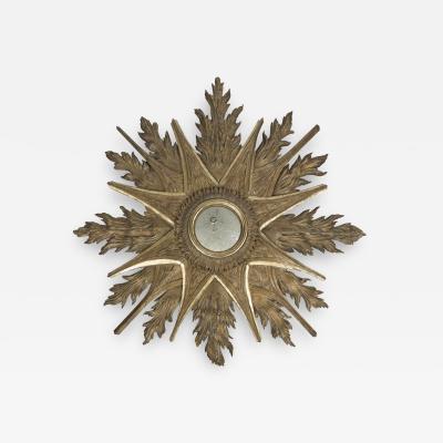 Large 19th Century Gilt Starburst Mirror