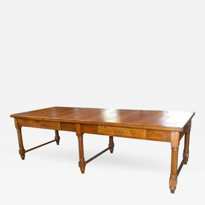 Large 19th Century Italian Walnut Farm Table