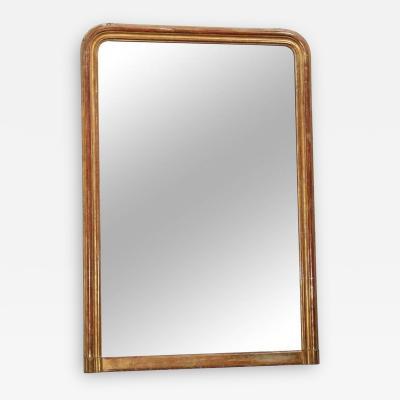 Large 24 Karat Gold Leafed Louis Philippe Mirror