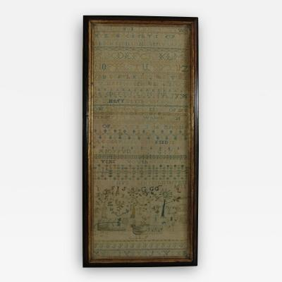 Large Antique Band Sampler c 1725 by Mary Gatehouse