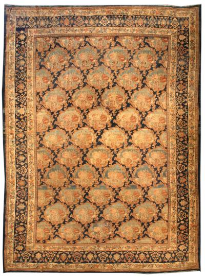 Large Antique Bidjar Rug size adjusted
