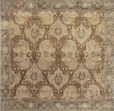 Large Antique Indian Carpet size adjusted