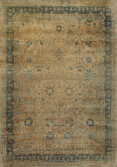 Large Antique Persian Kirman Rug
