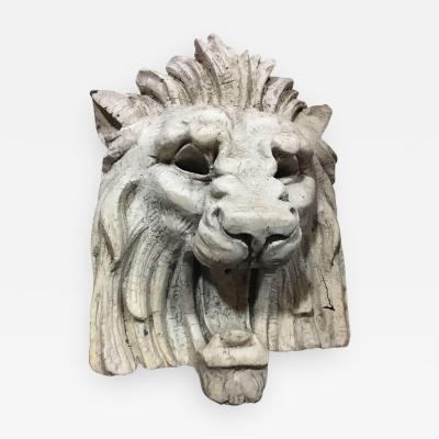 Large Architectural Lion Face in Terracotta C 1870