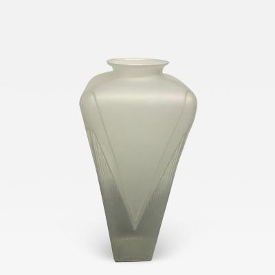 Large Art Deco Style Frosted Vase