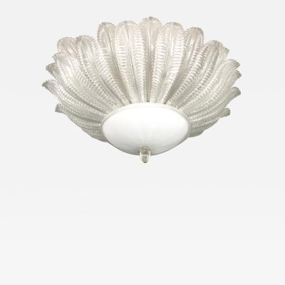Large Barovier Toso Flush Mount Chandelier
