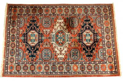 Large Belgium Hand Knotted Wool Area Rug