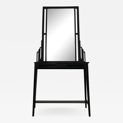 Large Black Console with Mirror
