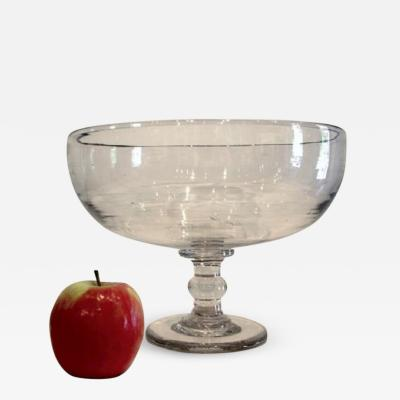 Large Blown Glass Compote