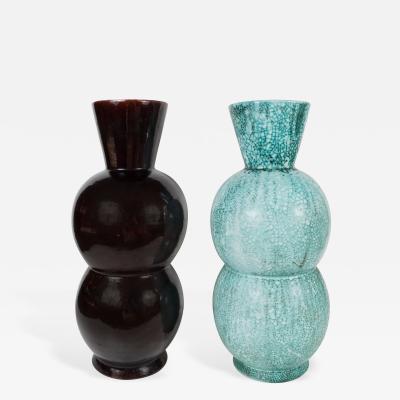 Large Blue Green Gord Shape Primavera Vase