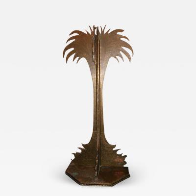 Large Brass Palm Tree Sculpture