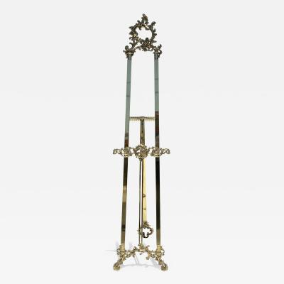 Large Brass Rococo Style Floor Easel