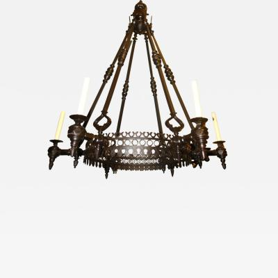 Large Bronze Chandelier