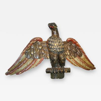 Large Carved Polychrome Painted Eagle