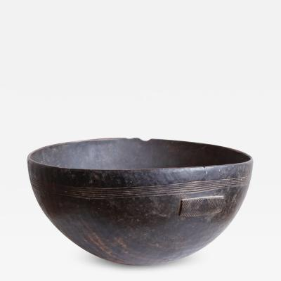 Large Carved Wood African Bowl