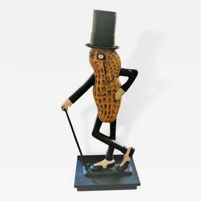 Large Cast Iron Mr Peanut Figure