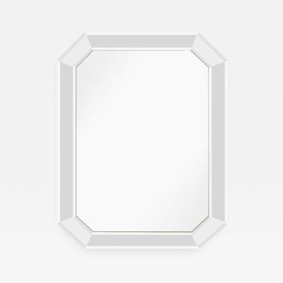 Large Chic 8 Sided Mirror with Beveled Panels 1960s