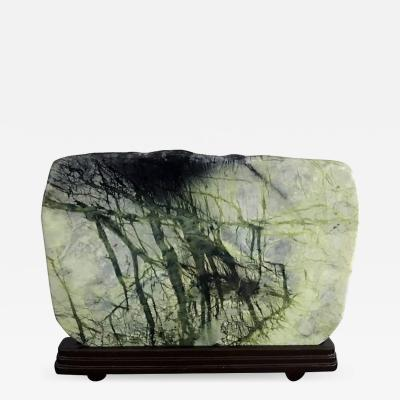 Large Chinese Scholar Greenery Stone on Stand