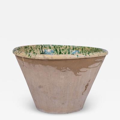 Large Colorful Glazed Earthenware Passata Bowl