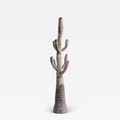Large Contemporary Ceramic Cactus Sculpture Grand Cactus Motifs