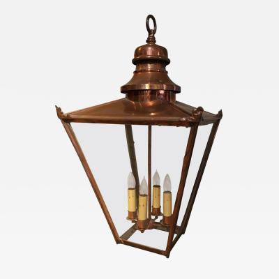 Large Copper Hanging Lantern English