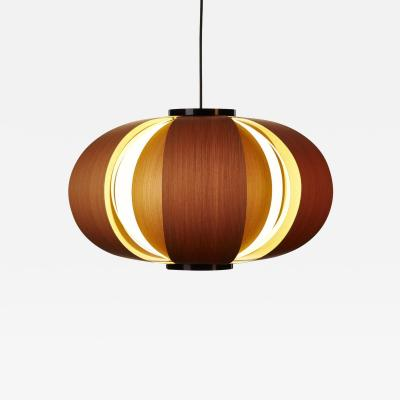 Large Disa Wood Suspension Lamp by J A Coderch for Tunds