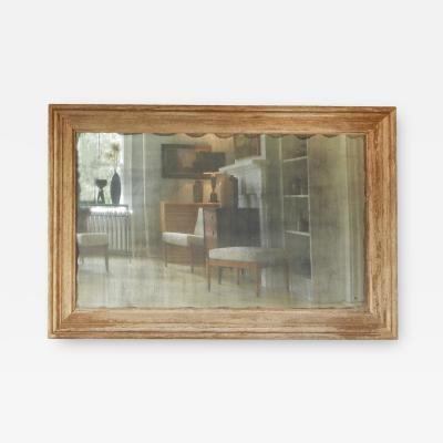 Large Distressed Mirror with Antique Glass