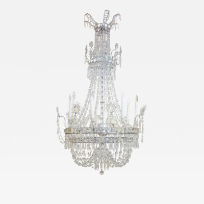 Large Eight Light Crystal Chandelier