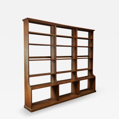 Large English Oak Modular Open Bookcase s