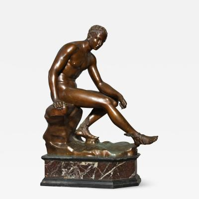 Large Figure of Seated Mercury Grand Tour Bronze