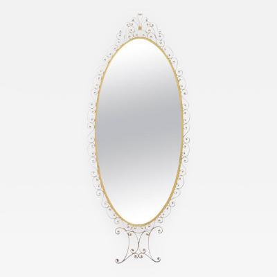 Large Floor Mirror Attributed to Pier Luigi Colli Italy 1950s