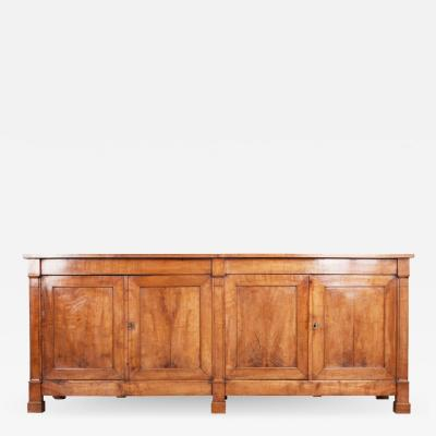 Large French Early 19th Century Restauration Walnut Enfilade