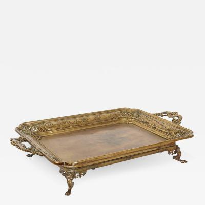 Large French Japonisme Bronze Two Handle Tray 19th Century Badham Pile Co