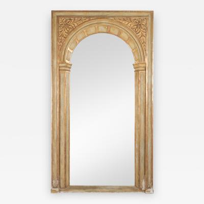 Large French Parcel Gilt Floor Mirror