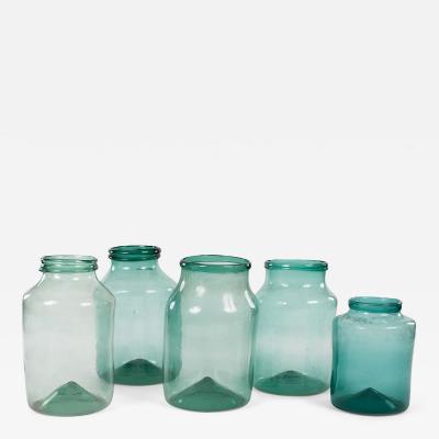 Large Hand Blown Antique Glass Jars
