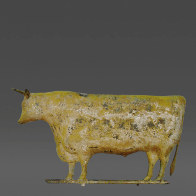 Large Imposing Copper Oxen in Molded Copper